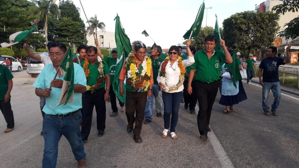 El gobernador paceño en campaña en el oriente boliviano / MTS