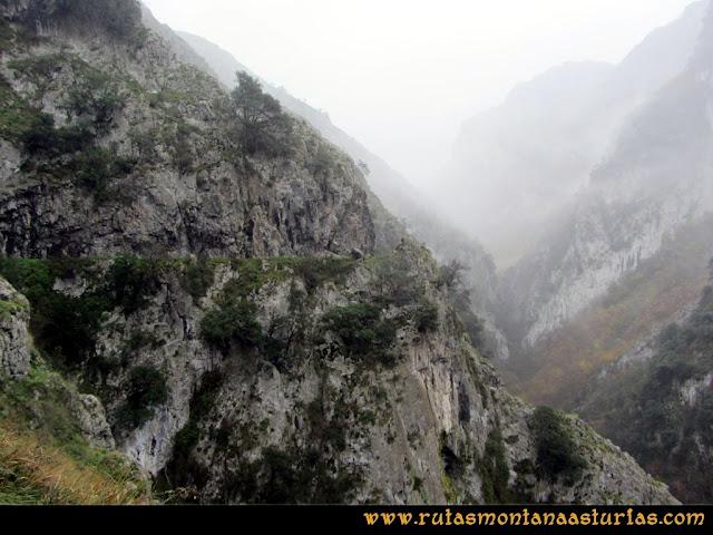Ruta de las Xanas y Senda de Valdolayés: Primer tramo del desfiladero