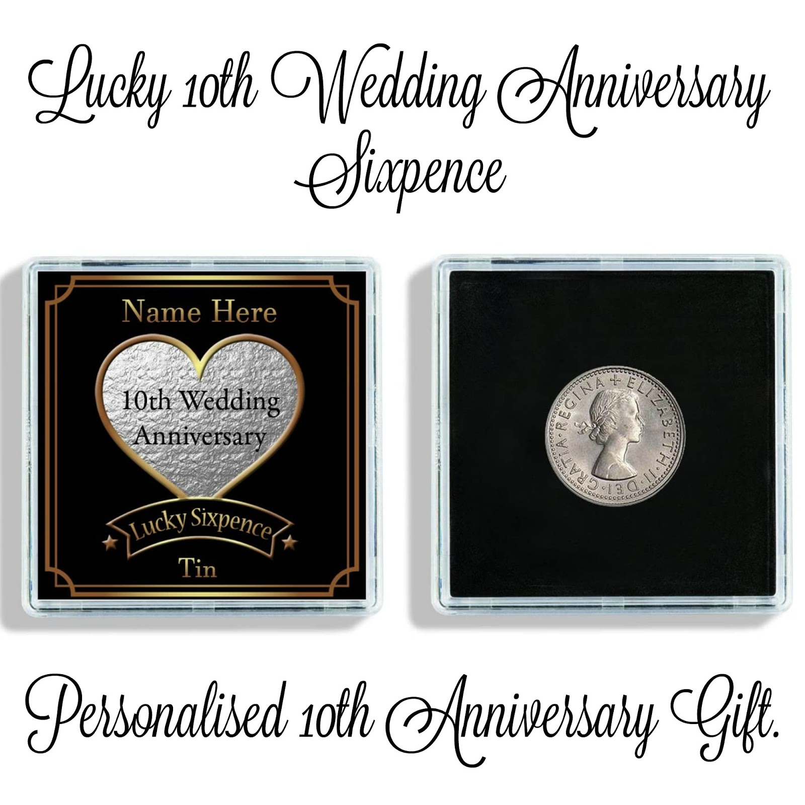 a 10th anniversary lucky sixpence