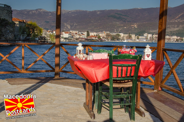 Table for two - Ohrid Lake, Macedonia