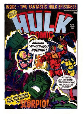 Hulk Comic #46, Scorpio vs the Defenders