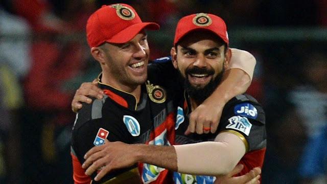 Ipl Matches Virat Kohli , AB de Villiers