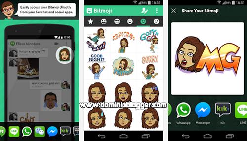 Comparte y envia los emoticones mas divertidos de Bitmoji