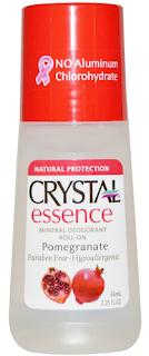 Crystal Body Deodorant, Crystal Essence, Mineral Deodorant Roll-On, Pomegranate, 2.25 fl oz (66 ml)  مزيل العرق الطبيعي بدون حطه او حرقة بالابط