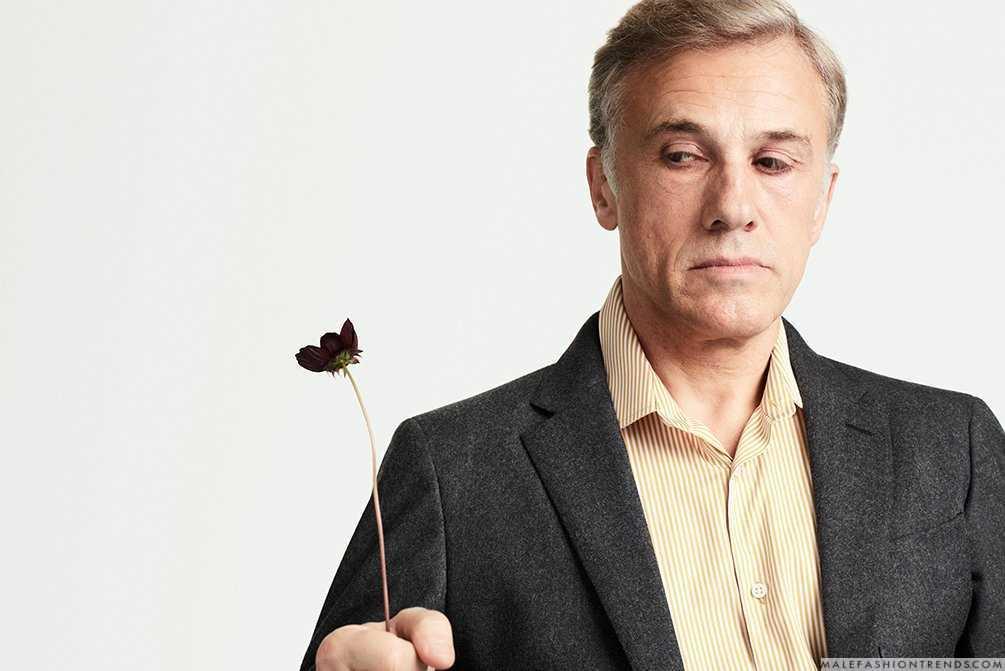 Christoph waltz celebra las festividades para mr porter for Mister porter