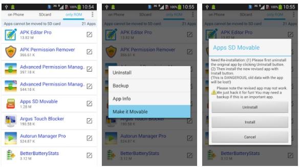 كيفية نقل جميع التطبيقات الي الذاكرة الخارجية للأندرويد بدون روت Apps Movable