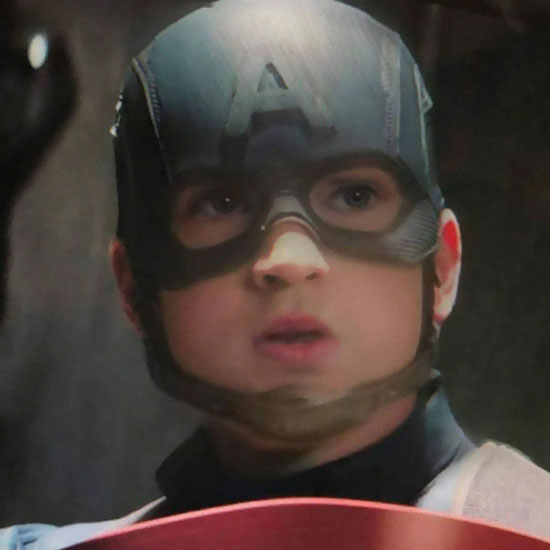 edit foto karakter marvel dengan filter baby face