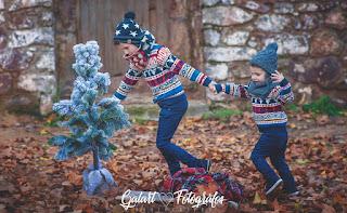 Fotografías de familia en invierno. Galart Fotógrafos.