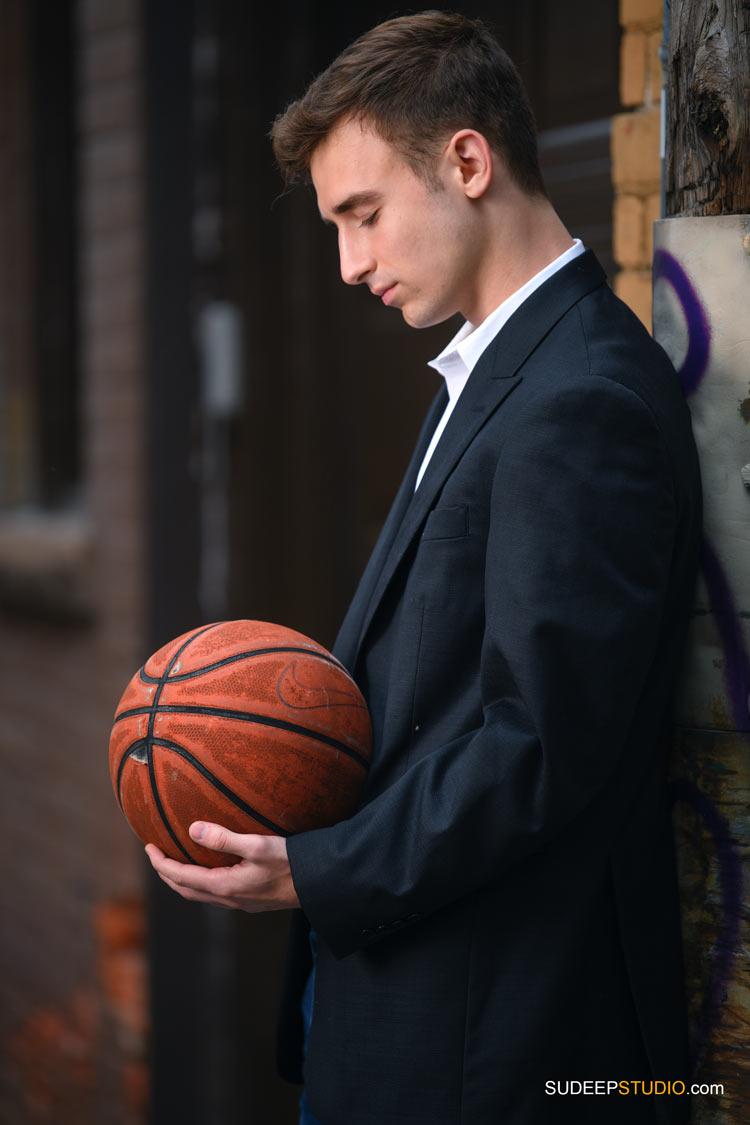 Pioneer High School Guys Senior Pictures in Sports Basketball Theme  SudeepStudio.com Ann Arbor Senior Portrait Photographer