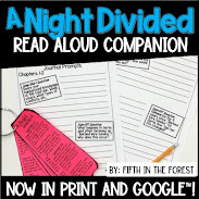 Thumbnail for read aloud companion for A Night Divided by Fifth in the Forest on Teachers Pay Teachers