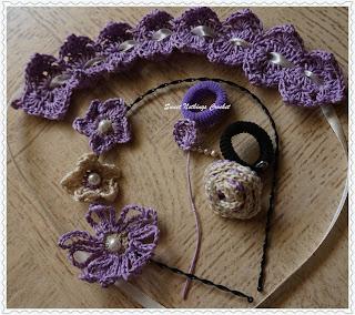 free crochet pattern flower motifs and belt