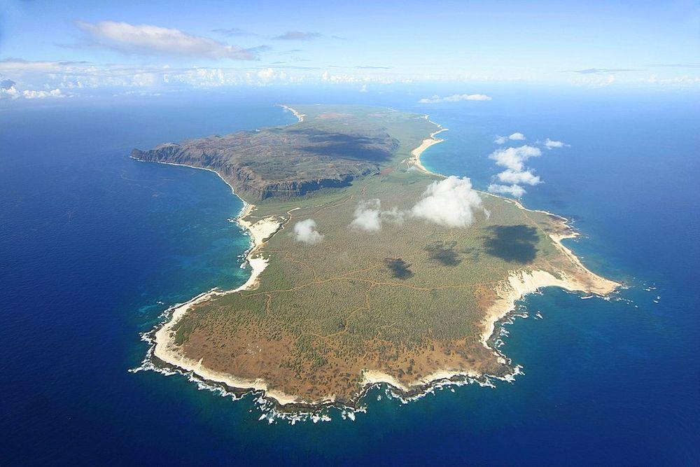 Aerial view of Niʻihau Island.
