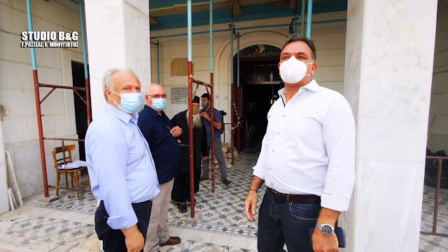 Τα έργα πολιτισμού στο Ναύπλιο επισκέφθηκε ο Γ.Διδασκάλου με τον Γ.Ανδριανό