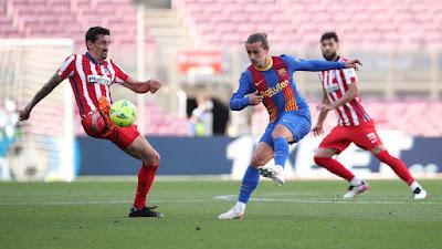 ملخص مباراة برشلونة واتلتيكو مدريد (0-0) الدوري الاسباني