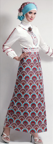 Baju Batik Muslim Remaja