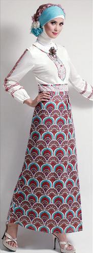 Model Busana Batik Remaja Muslimah Modern