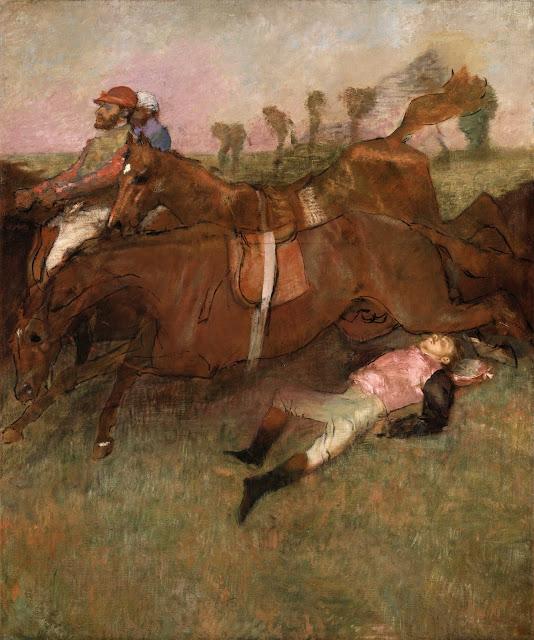 Эдгар Дега - Упавший жокей (1880-1881)