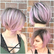 Two Tone Hair Color Short Hairstyles Ideas 2019