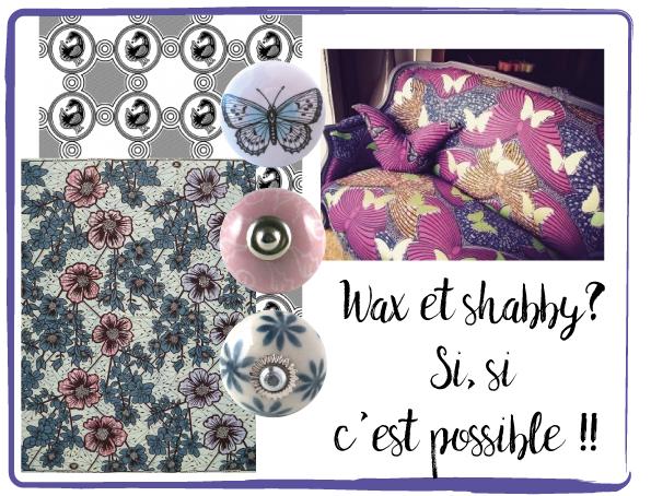 wax tissus, bouton de meuble shabby