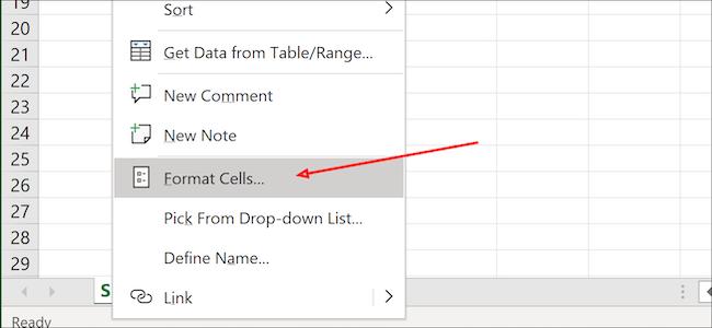 خلايا تنسيق Excel