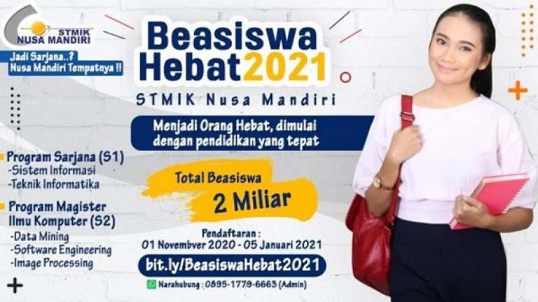 Mau Beasiswa Hebat STMIK Nusa Mandiri?