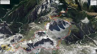 Overview of Tre Cime di Lavaredo hike.