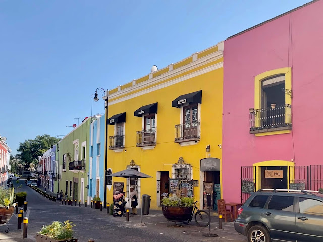 Colourful houses in Puebla, Mexico