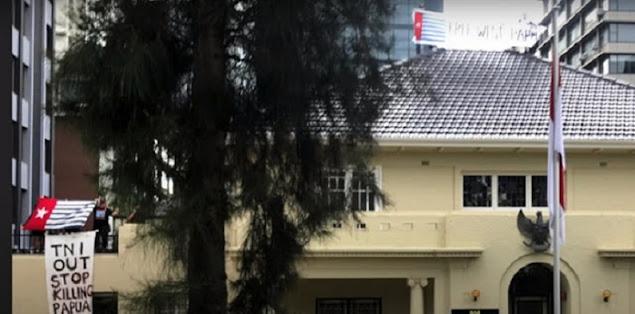 Aktivis Papua Merdeka Permalukan Indonesia, Kibarkan Bintang Kejora di Atap Konjen RI