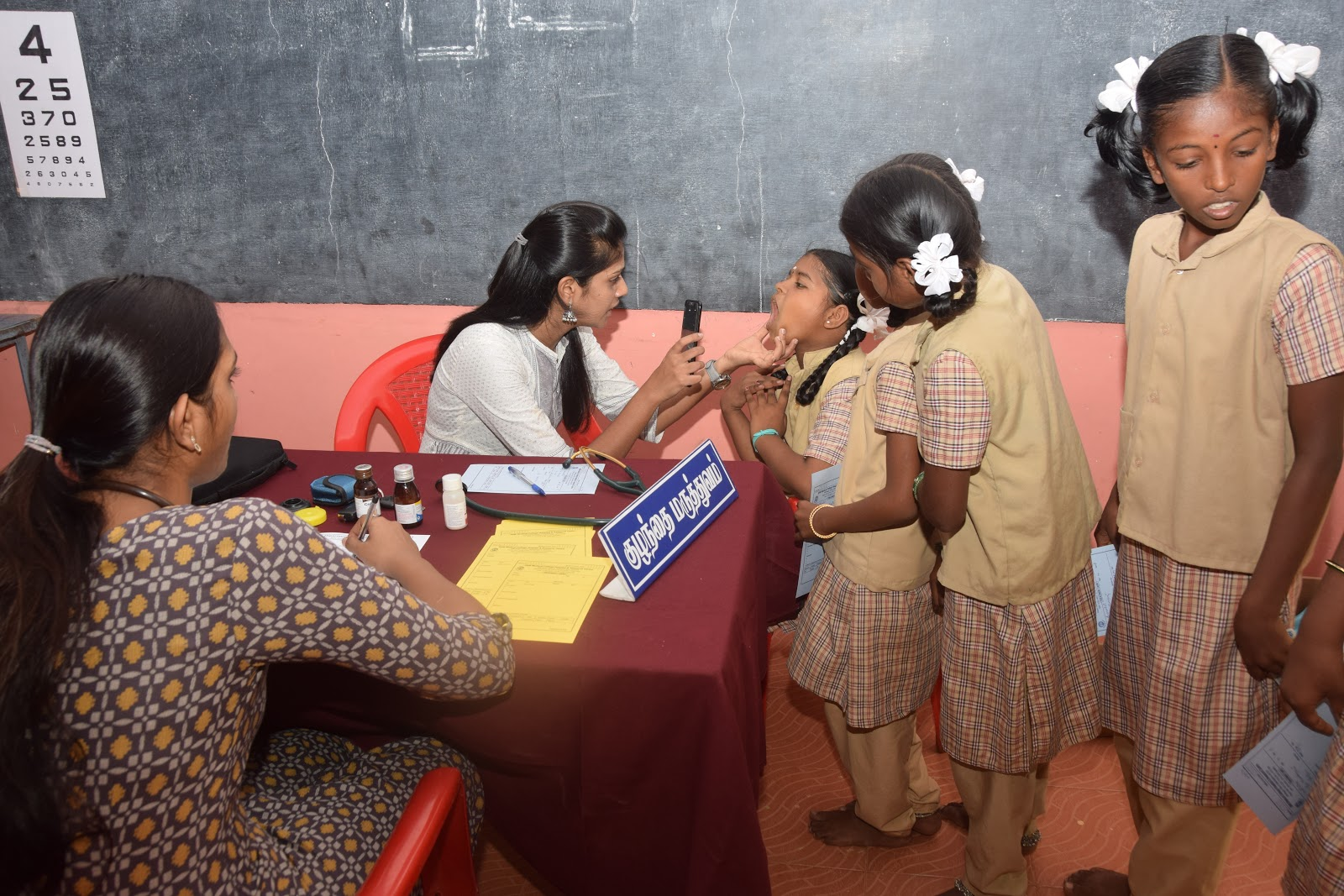 Medical Camp and Distribution of educational learning kits for