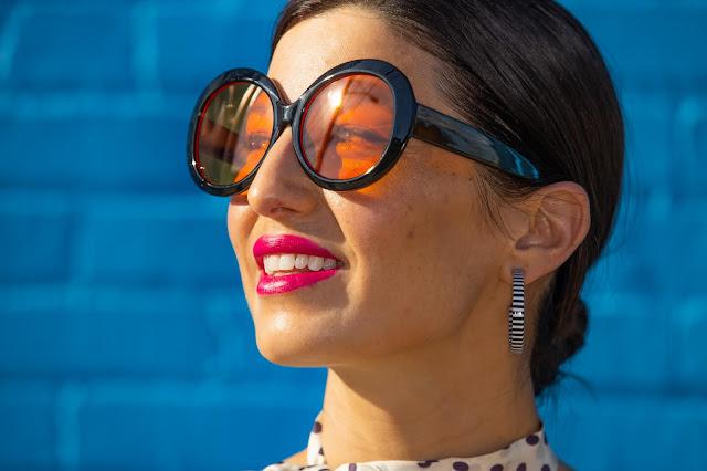 magenta lipstick and 3rdEyeView Eyewear