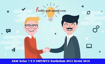 KKM Kelas 7 8 9 Kurikulum 2013 Revisi 2018