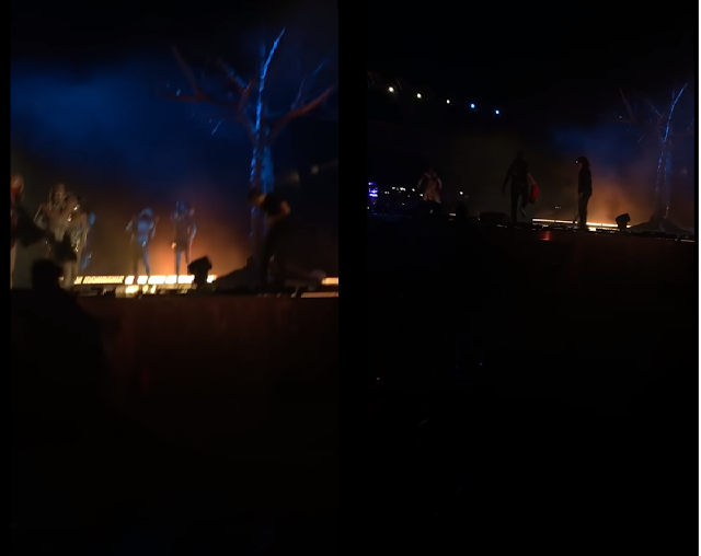 شاهد هجوم حديقة الملز المقطع كامل وسط وذعر زوارها بعد طعن أعضاء من الفرقة الموسيقية