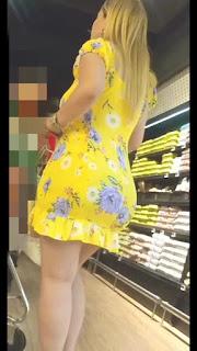 Hermosa madura curvas sexys vestido