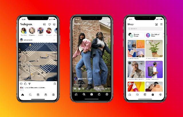 Desain Instagram Berubah Dengan Opsi Fitur Reels Dan Belanja