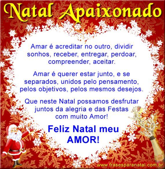 Mensagem de Natal para namorado Feliz Natal meu Amor