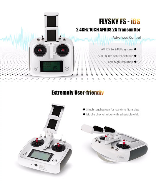Coupon of FLYSKY FS - i6S 2.4GHz 10CH AFHDS 2A Transmitter on Gearbest