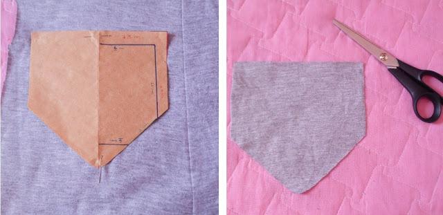 Como fazer bolso aplicado para camiseta