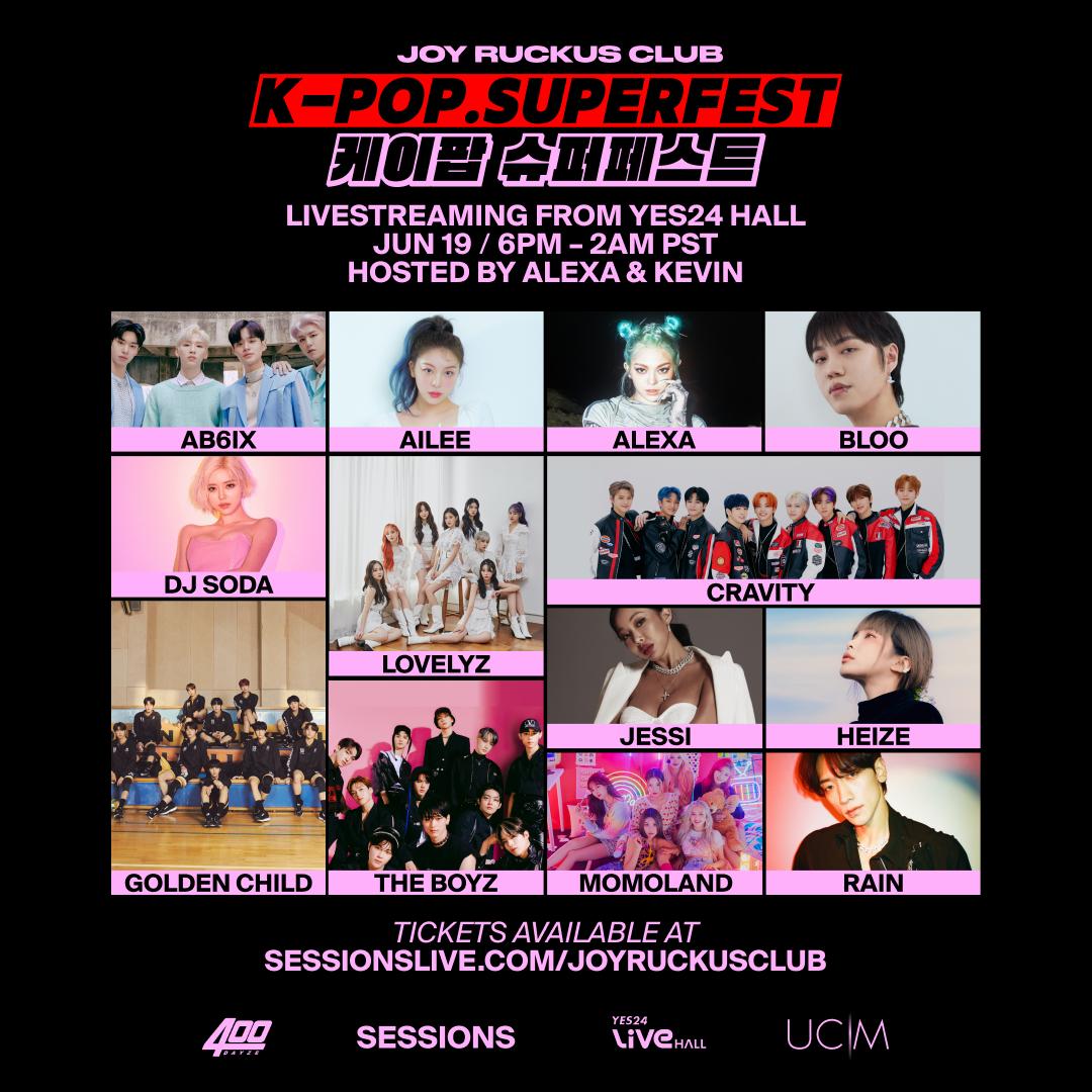 K-Pop SuperFest, el festival de K-Pop en Sessions por Joy Rucks Club