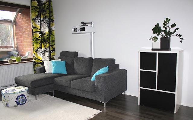 lime turkoosi sohva