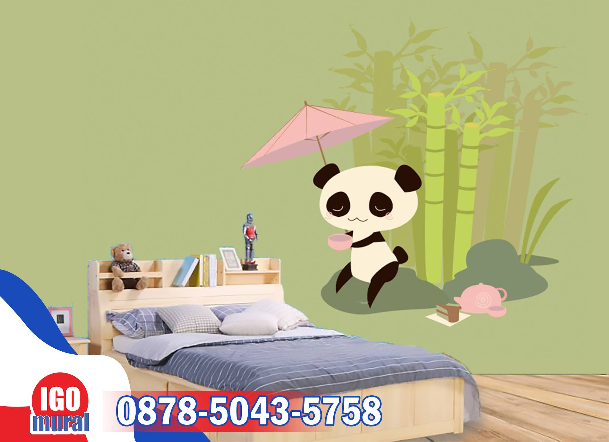 Wallpaper dinding Panda