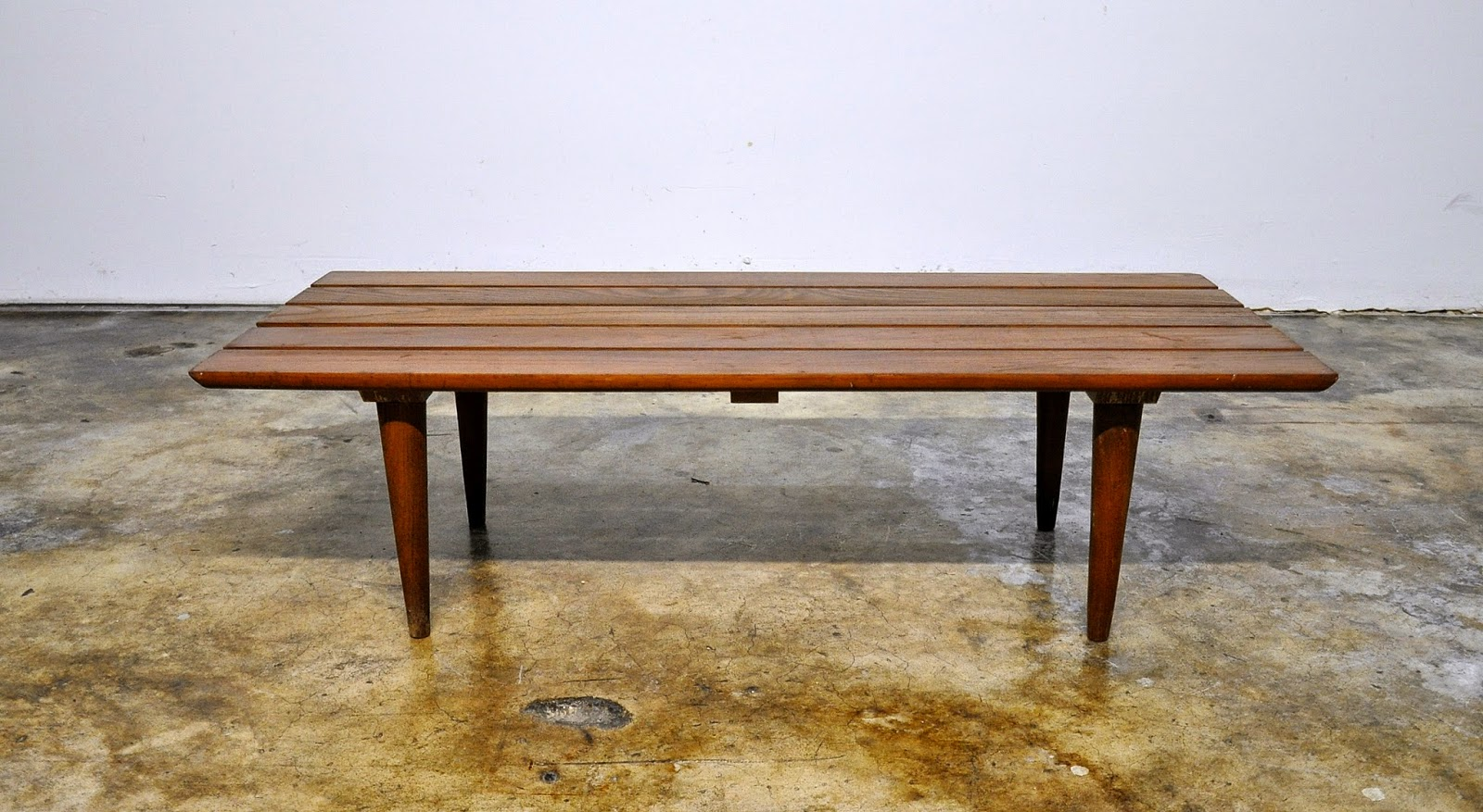 SELECT MODERN: Mid Century Modern Slat Bench or Low Coffee ...