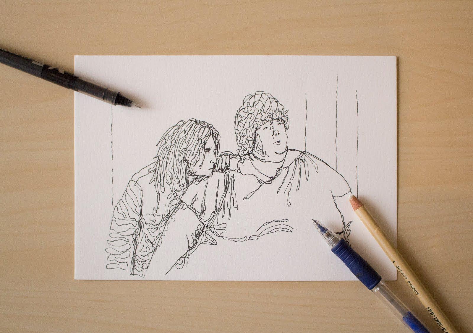Ilustración creada por Pelayo Rodríguez sobre ¿A quién ama Gilbert Grape?