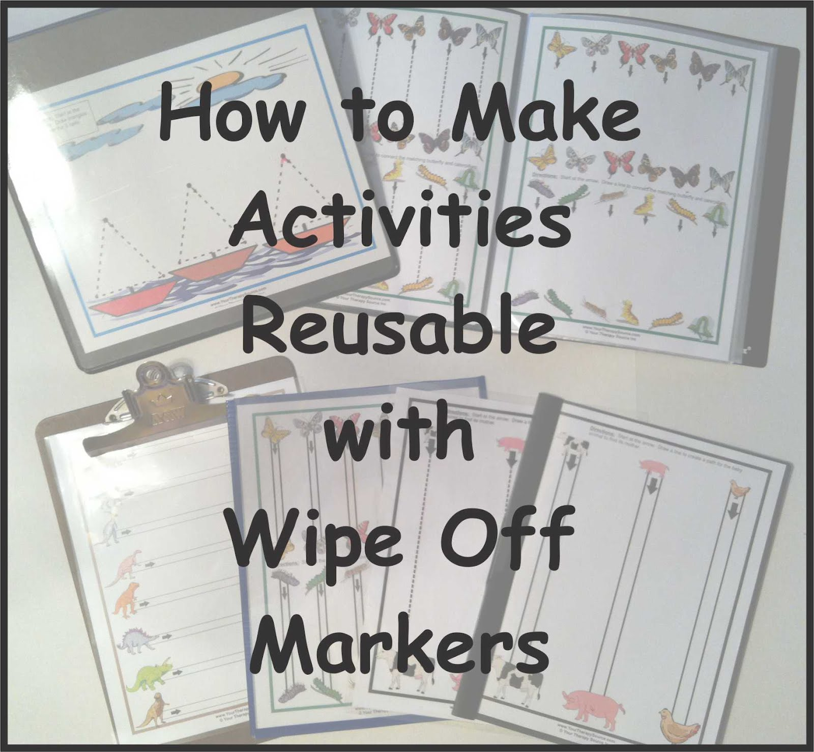 Wipe Off Options For Visual Motor Activities