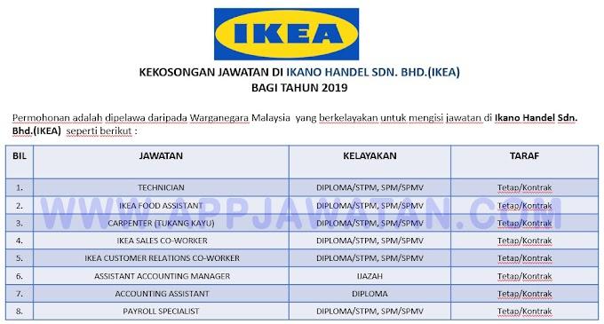Jawatan Kosong Terkini di Ikano Handel Sdn. Bhd.(IKEA)