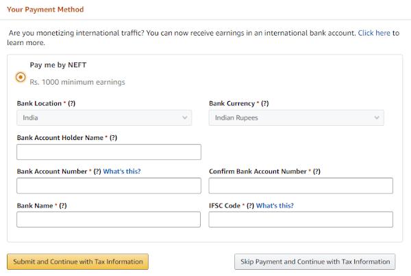 Amazon Affiliate Minimum Payout