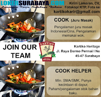 Open Recruitment at Restoran Kartiko Heritage Surabaya Terbaru Juni 2019