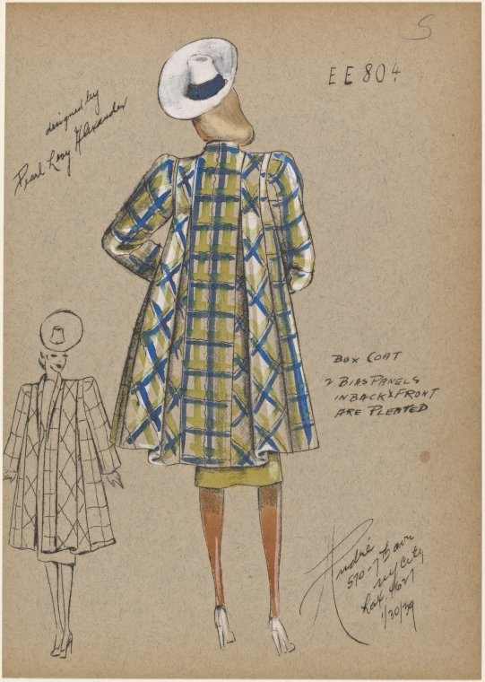 06-Box-Coat-New-York-Public-Library-André-Studios-Fashion-Vintage-Illustrations-and-Drawings-from-the-1930s-www-designstack-co