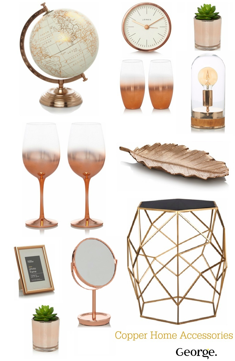 Budget Copper Home Accessories, George At Asda, Home Interiors, The Style Guide Blog, Copper Trend
