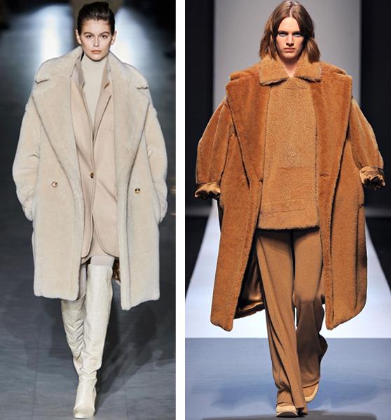 Max Mara teddy coats runway looks