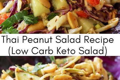 Thai Peanut Salad (Low Carb & Keto)